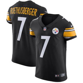 Nike Pittsburgh Steelers #7 Ben Roethlisberger Vapor Untouchable Elite Player Black Jersey
