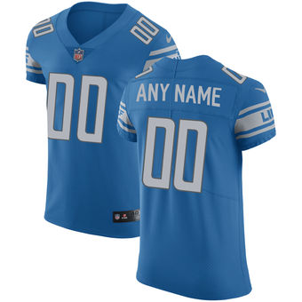 Men's Detroit Lions Nike Blue Vapor Untouchable Custom Elite Jersey