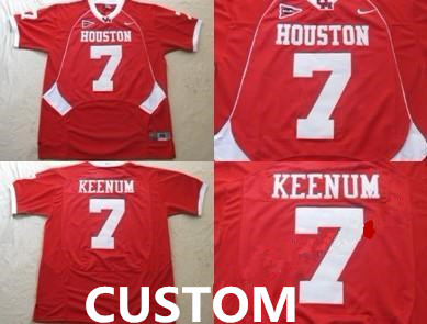 Custom Mens University of Houston Red Jersey