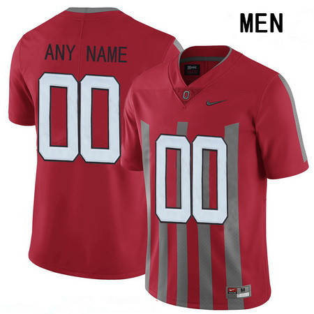 Men's Ohio State Buckeyes Custom Nike College Football 1916 Throwback Jersey - Red