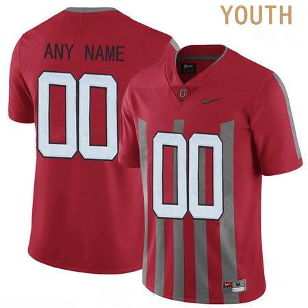 Youth Ohio State Buckeyes Custom Nike College Football 1916 Throwback Jersey - Red