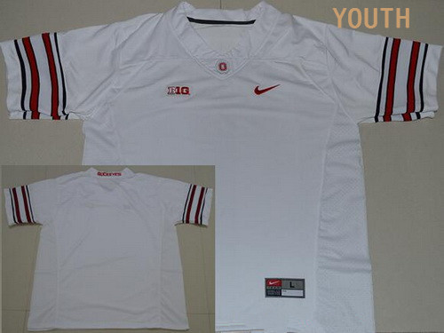 Youth Ohio State Buckeyes Custom College Football Nike Limited Jersey - 2016 White