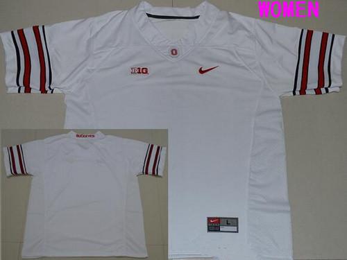 Women's Ohio State Buckeyes Custom College Football Nike Limited Jersey - 2016 White