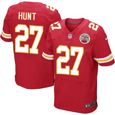 Nike Kansas City Chiefs #27 Kareem Hunt Red Team Color Men's Stitched NFL Elite Jersey