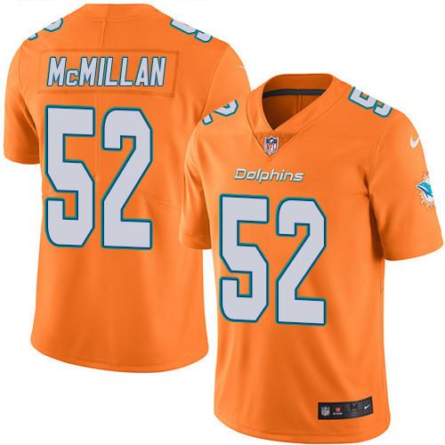 Youth Nike Dolphins #52 Raekwon McMillan Orange Stitched NFL Limited Rush Jersey