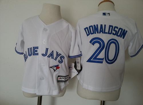 Toddler Toronto Blue Jays #20 Josh Donaldson White Home MLB Majestic Baseball Jersey
