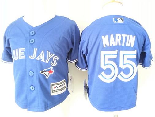 Toddler Toronto Blue Jays #55 Russell Martin Alternate Blue MLB Majestic Baseball Jersey