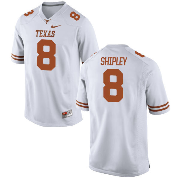 Men's Texas Longhorns 8 Jordan Shipley White Nike College Jersey