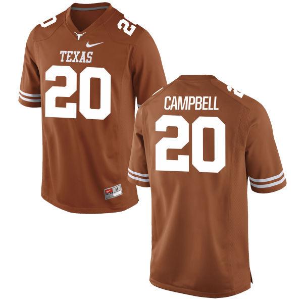 Men's Texas Longhorns 20 Earl Campbell Orange Nike College Jersey