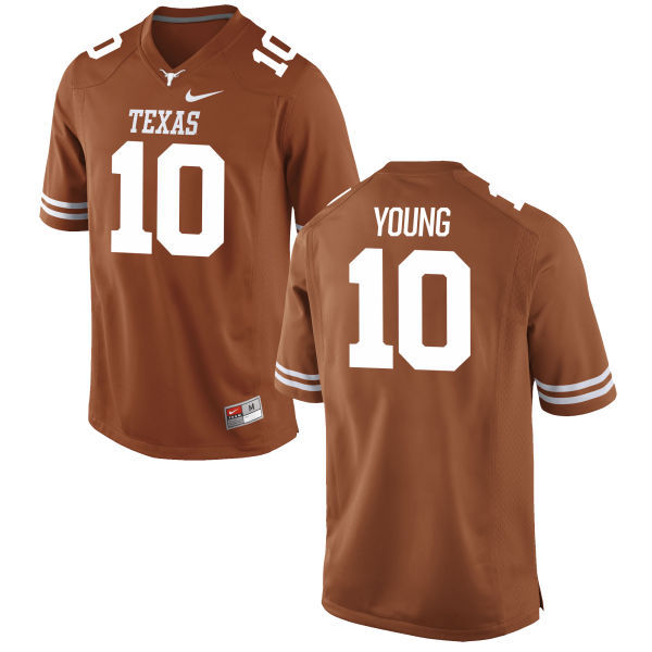 Men's Texas Longhorns 10 Vince Young Orange Nike College Jersey