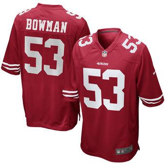 Navorro Bowman San Francisco 49ers Nike Game Jersey - Scarlet