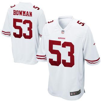 Men's Nike San Francisco 49ers #53 NaVorro Bowman Game White Jersey