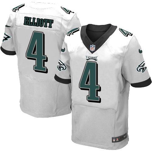 Nike Philadelphia Eagles #4 Jake Elliott White Men's Stitched NFL New Elite Jersey