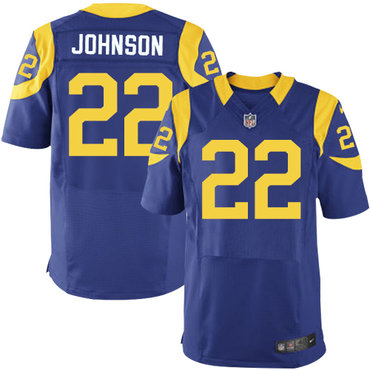 Nike Los Angeles Rams #22 Trumaine Johnson Royal Blue Alternate Men's Stitched NFL Elite Jersey