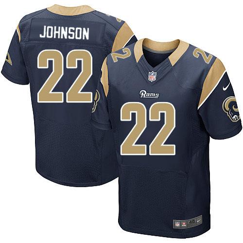 Nike Los Angeles Rams #22 Trumaine Johnson Navy Blue Team Color Men's Stitched NFL Elite Jersey