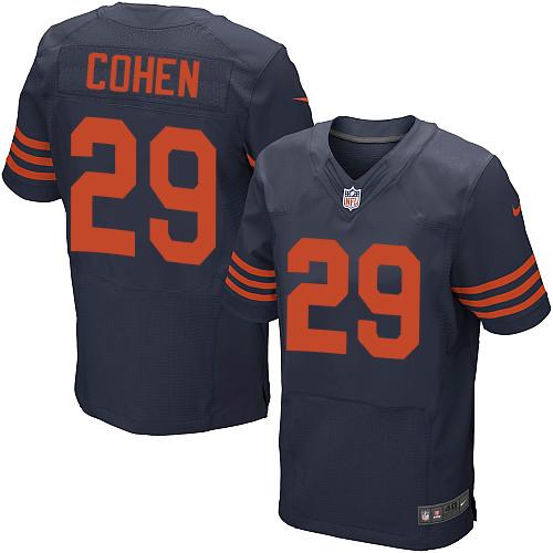 Nike Chicago Bears #29 Tarik Cohen Navy Blue Alternate Men's Stitched NFL Elite Jersey