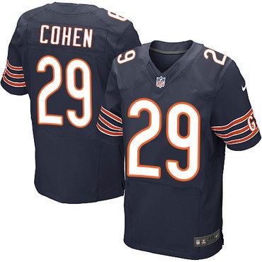 Nike Chicago Bears #29 Tarik Cohen Navy Blue Team Color Men's Stitched NFL Elite Jersey