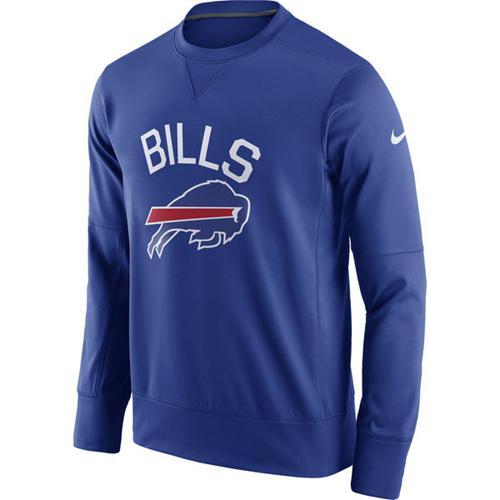 Men's Buffalo Bills Nike Royal Sideline Circuit Performance Sweatshirt