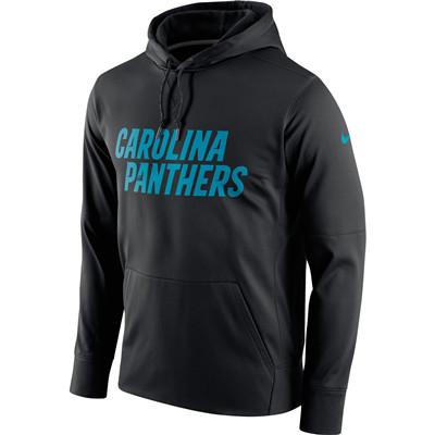 Men's Carolina Panthers Nike Black Circuit Wordmark Essential Performance Pullover Hoodie