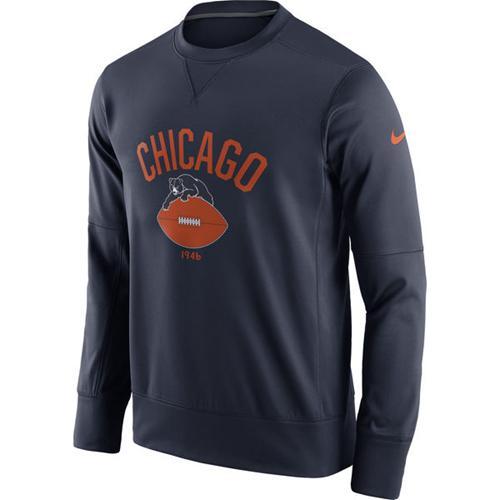 Men's Chicago Bears Nike Navy Circuit Alternate Sideline Performance Sweatshirt