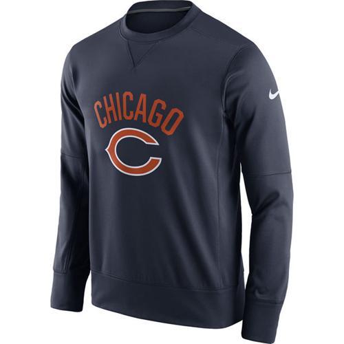 Men's Chicago Bears Nike Navy Sideline Circuit Performance Sweatshirt
