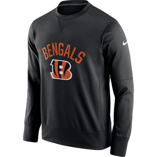 Men's Cincinnati Bengals Nike Black Sideline Circuit Performance Sweatshirt