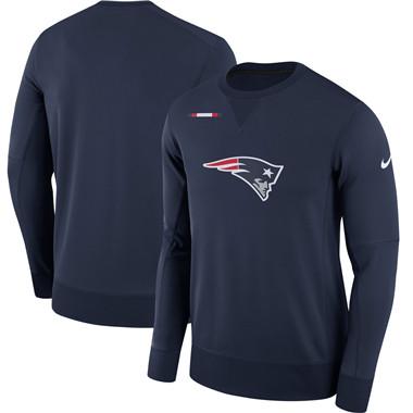 Men's New England Patriots Nike Navy Sideline Team Logo Performance Sweatshirt