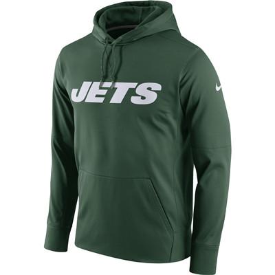 Men's New York Jets Nike Green Circuit Wordmark Essential Performance Pullover Hoodie