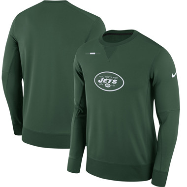 Men's New York Jets Nike Green Sideline Team Logo Performance Sweatshirt