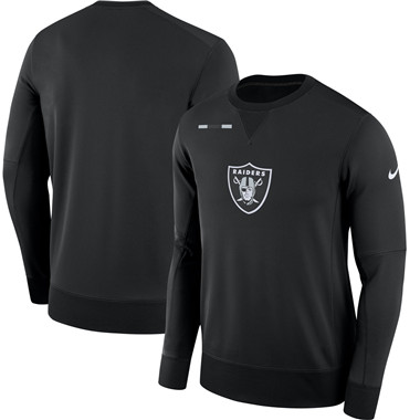 Men's Oakland Raiders Nike Black Sideline Team Logo Performance Sweatshirt