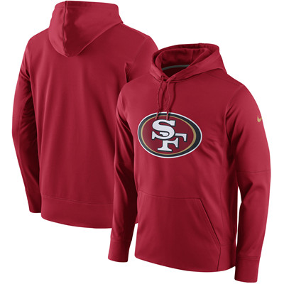 Men's San Francisco 49ers Nike Scarlet Circuit Logo Essential Performance Hoodie