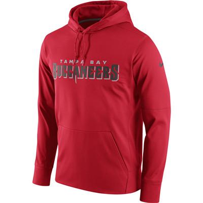Men's Tampa Bay Buccaneers Nike Red Circuit Wordmark Essential Performance Pullover Hoodie