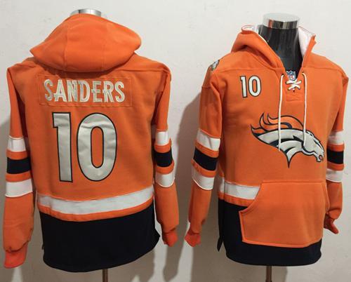 Nike Denver Broncos #10 Emmanuel Sanders Orange Navy Blue Name & Number Pullover NFL Hoodie
