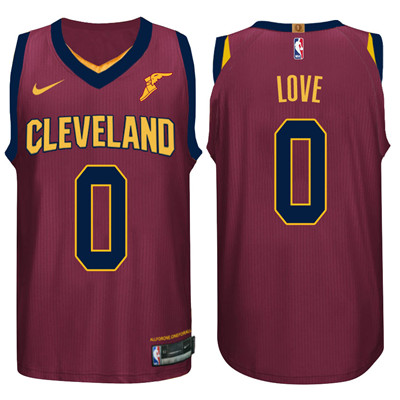 Nike NBA Cleveland Cavaliers #0 Kevin Love Jersey 2017-18 New Season Wine Red Jersey
