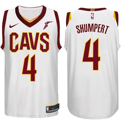 Nike NBA Cleveland Cavaliers #4 Iman Shumpert Jersey 2017-18 New Season White Jersey
