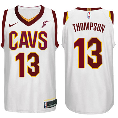 Nike NBA Cleveland Cavaliers #13 Tristan Thompson Jersey 2017-18 New Season White Jersey