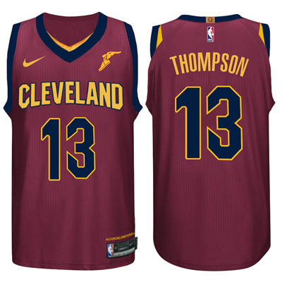 Nike NBA Cleveland Cavaliers #13 Tristan Thompson Jersey 2017-18 New Season Wine Red Jersey
