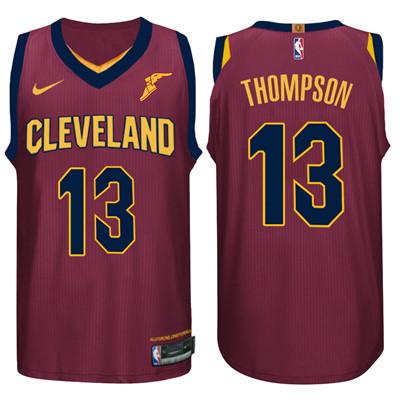 Nike NBA Cleveland Cavaliers #13 Tristan Thompson Jersey 2017-18 New Season Wine Red Jersey