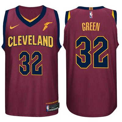 Nike NBA Cleveland Cavaliers #32 Jeff Green Jersey 2017-18 New Season Wine Red Jersey
