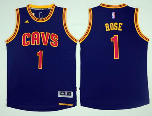 Cleveland Cavaliers #1 Derrick Rose Navy Blue Alternate Stitched NBA Jersey