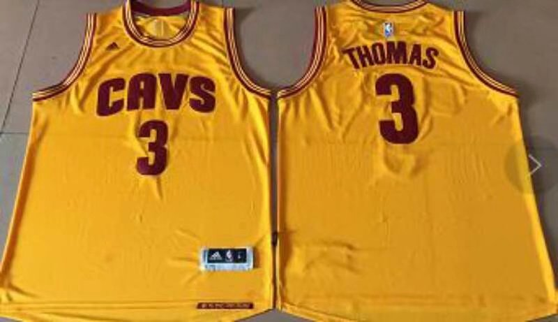 Cleveland Cavaliers #3 Thomas Gold Alternate Stitched NBA Jersey