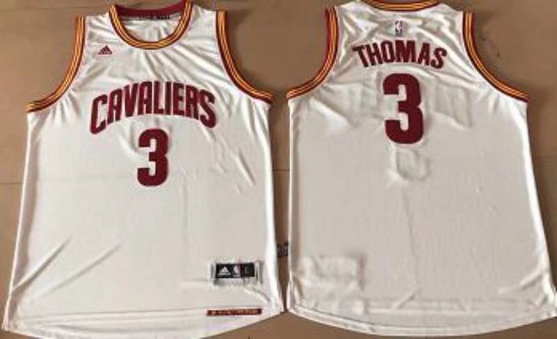 Cleveland Cavaliers #3 Thomas White Stitched NBA Jersey
