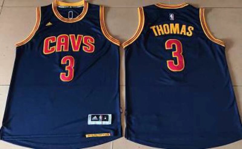 Cleveland Cavaliers #3 Thomas Blue Stitched NBA Jersey