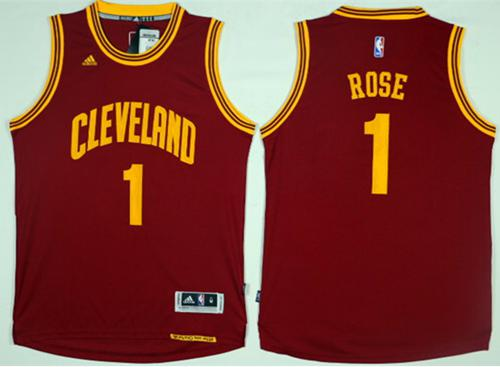 Cleveland Cavaliers #1 Derrick Rose Red Road Stitched NBA Jersey