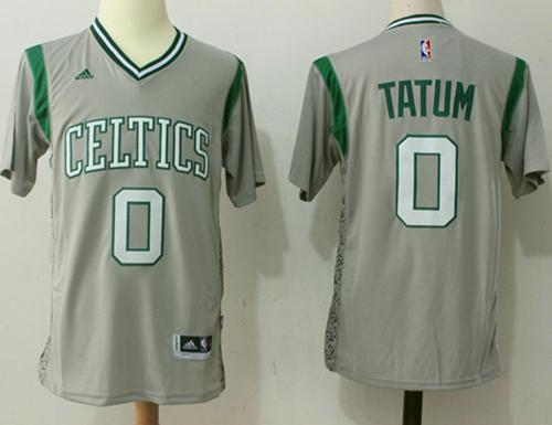 Boston Celtics #0 Jayson Tatum Gray Pride Stitched NBA Jersey