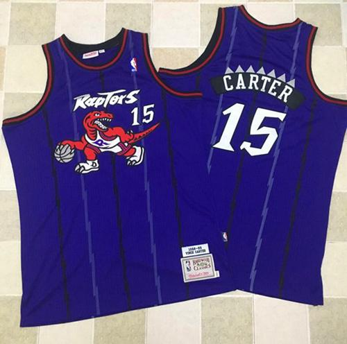 Mitchell And Ness Toronto Raptors #15 Vince Carter Purple Throwback Stitched NBA Jersey