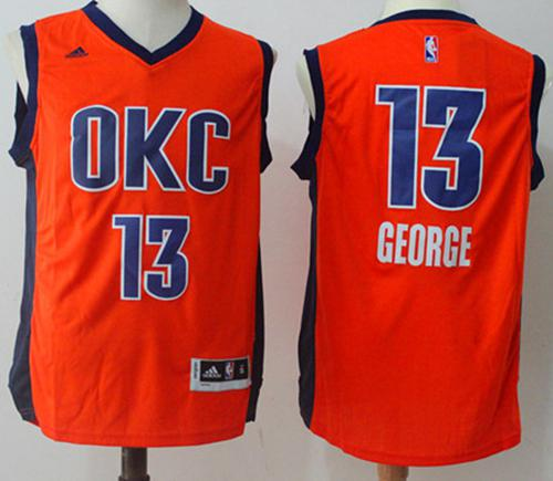 Oklahoma City Thunder #13 Paul George Orange Alternate Stitched NBA Jersey
