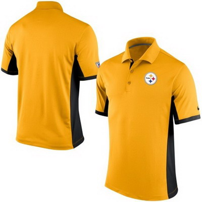 Men's Pittsburgh Steelers Nike Gold Team Issue Performance Polo
