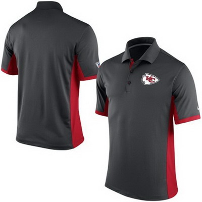 Men's Kansas City Chiefs Nike Charcoal Team Issue Performance Polo