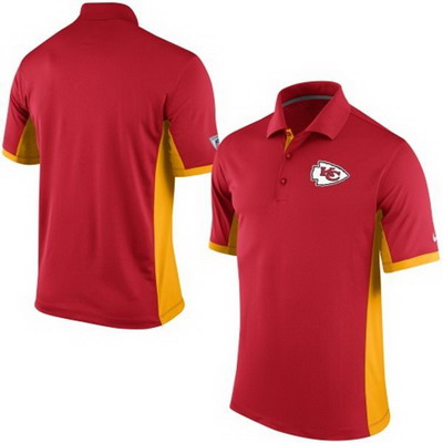 Men's Kansas City Chiefs Nike Red Team Issue Performance Polo